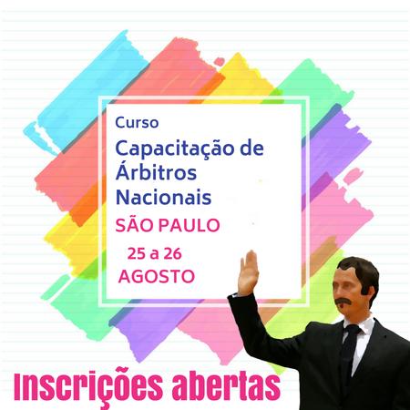 Capacitação de Árbitros Nacionais  – São Paulo