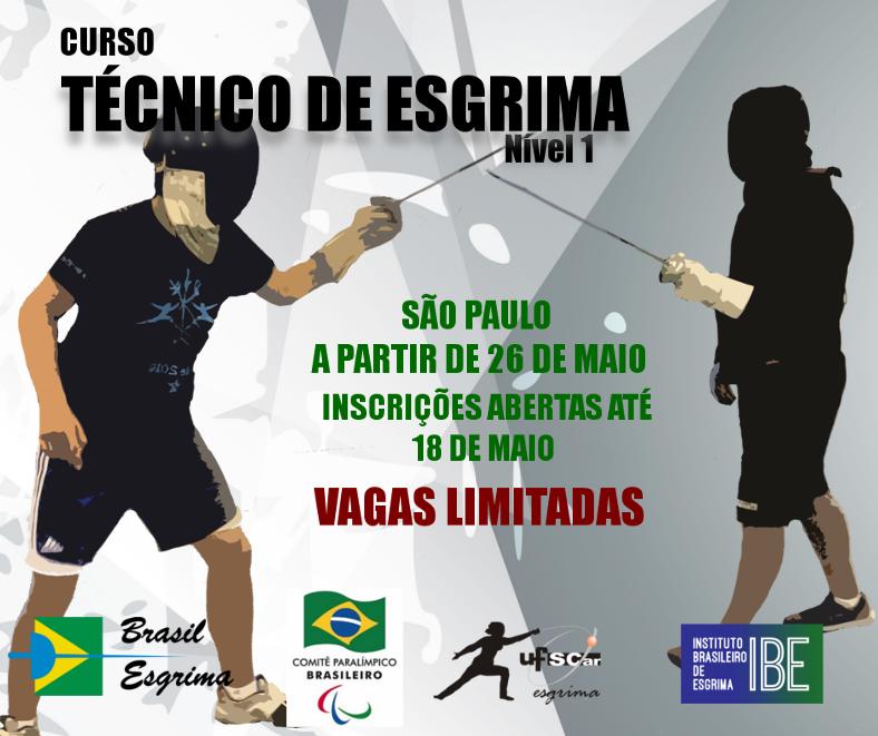 Abertas as inscrições para o curso de Técnico de Esgrima Nível 1 em São Paulo e Curitiba
