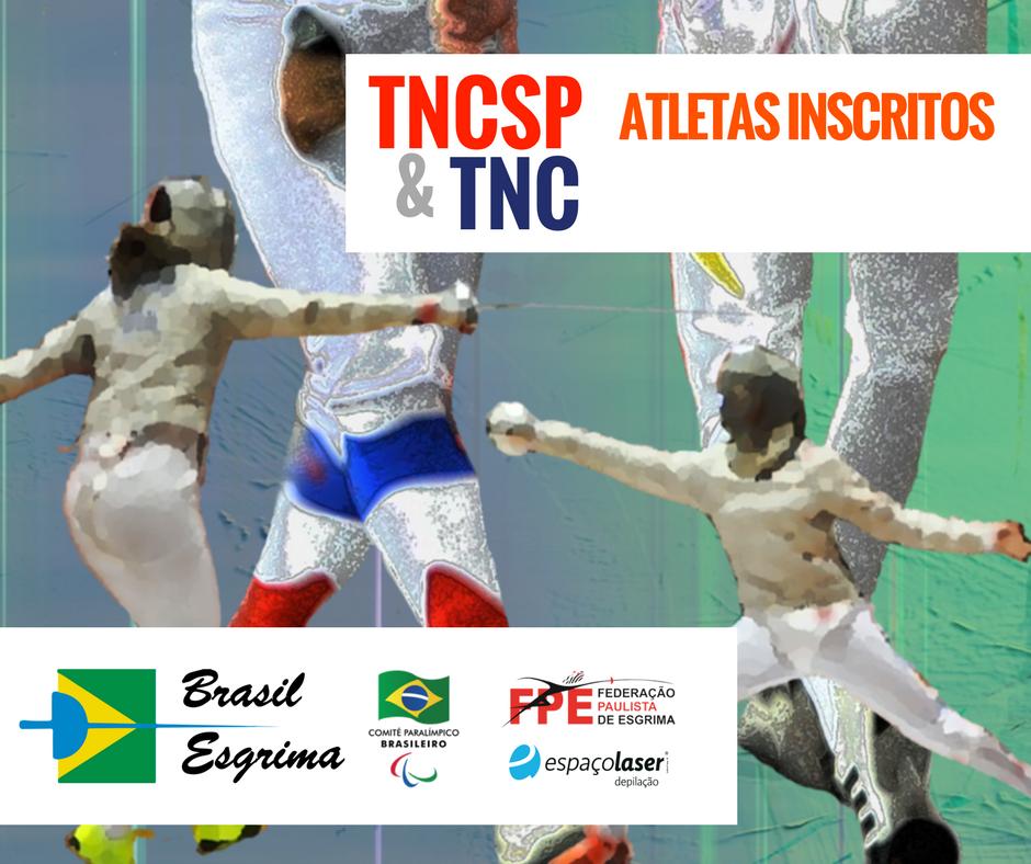 Atletas inscritos no TNCSP e TNC