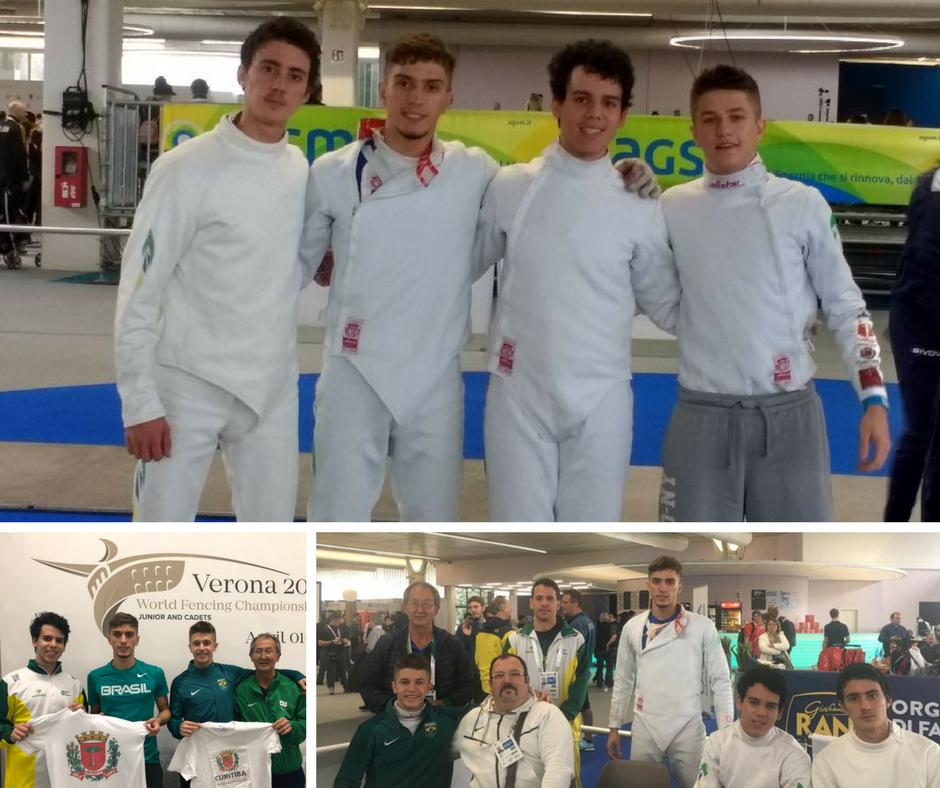 Equipe de Espada Masculina Juvenil alcança excelente resultado em Verona