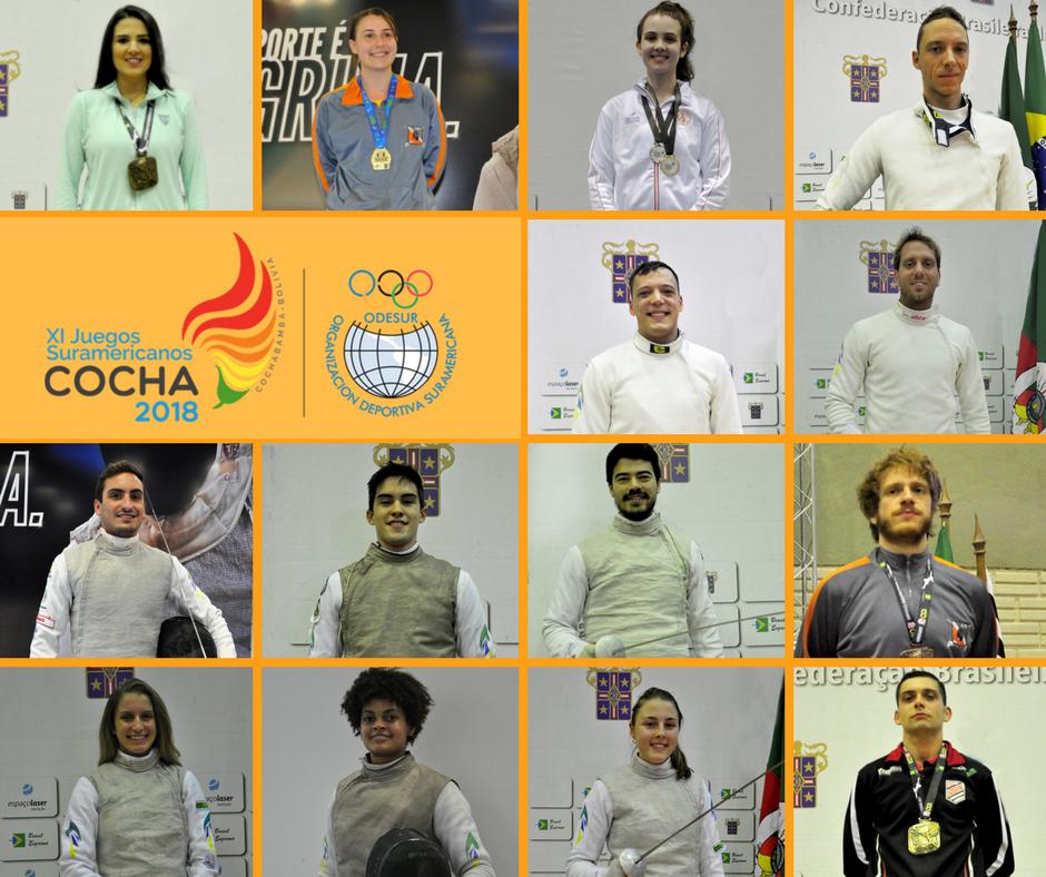 XI Jogos Sul-americanos – Cocha2018  tem definidos os atletas que representarão o Brasil