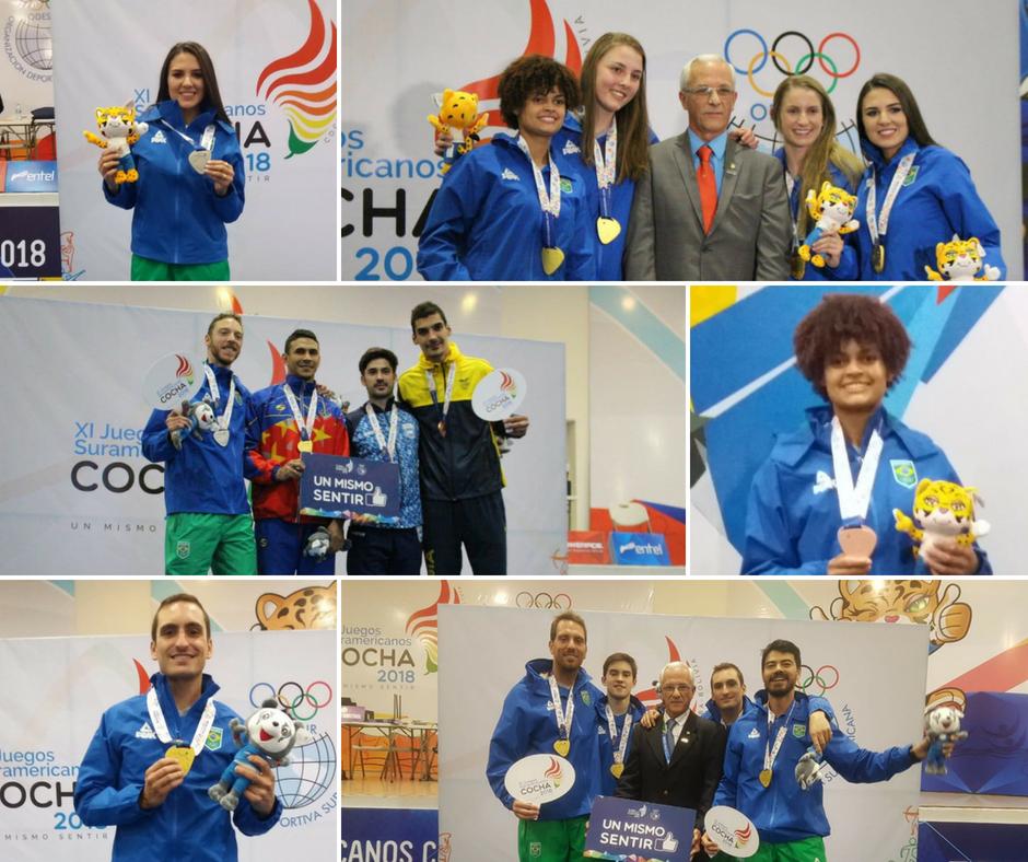 Brasil conquista 6 medalhas nos XI Jogos Sul-americanos