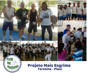 Projeto Mais Esgrima desbravando o Piauí