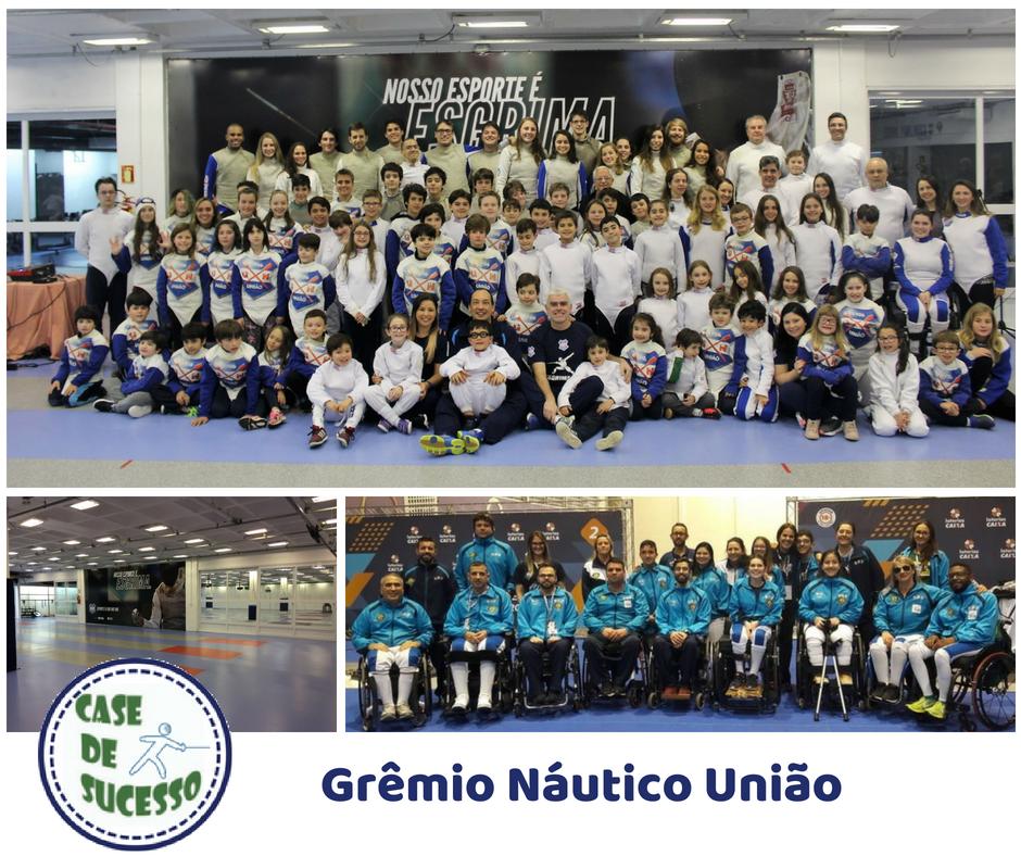 A esgrima vencedora do Grêmio Náutico União