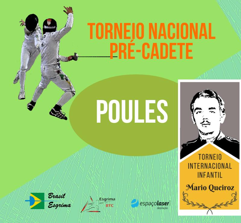 Pules dos Torneios Internacional Infantil Mario Queiroz e Nacional Pré-cadete