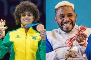 Bia Bulcão e Vanderson Chaves: orgulhos negros da esgrima brasileira