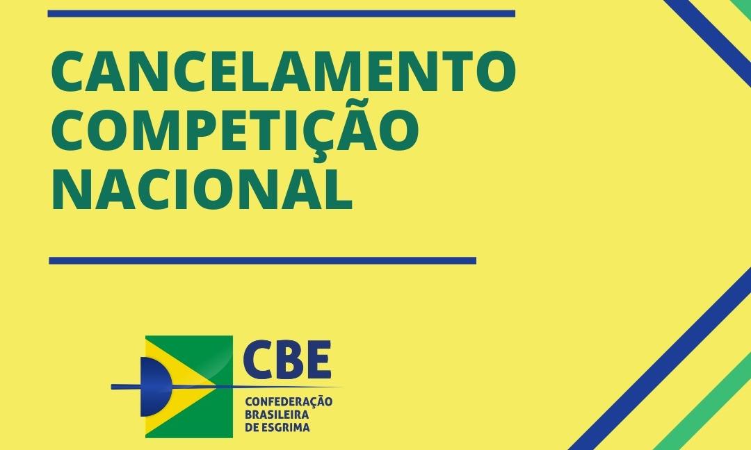 CBE comunica o cancelamento da primeira competição do calendário nacional 2021
