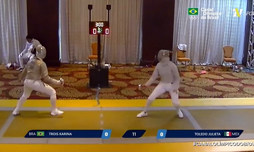 Karina Trois cai nas quartas do Pré-Olímpico e Brasil terá dois esgrimistas nos Jogos de Tóquio
