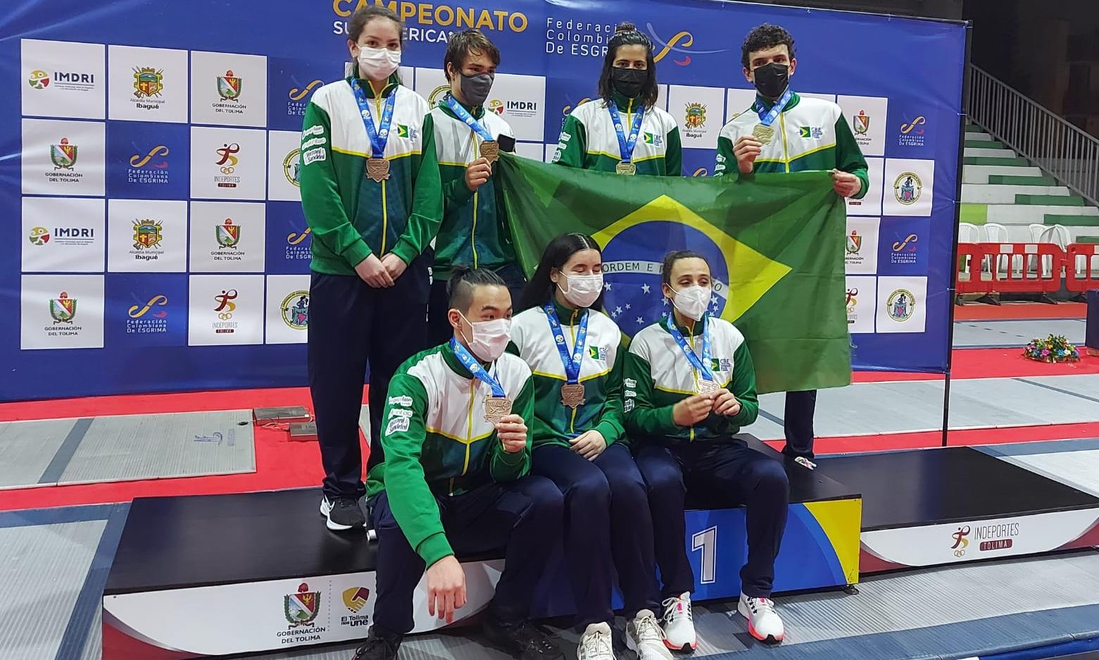 Três ouros! Carolina Brecheret, Lorenzo Mion e Matheus Becker são campeões sul-americanos cadetes